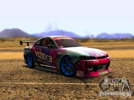 Nissan Silvia S15 EXEDY RACING TEAM для GTA San Andreas вид слева