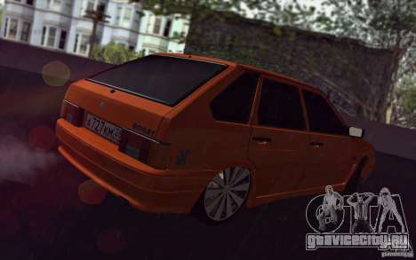 Ваз 2114 Juicy Orange для GTA San Andreas вид сзади
