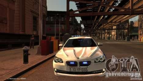 BMW 550i Azeri Police YPX для GTA 4 вид изнутри