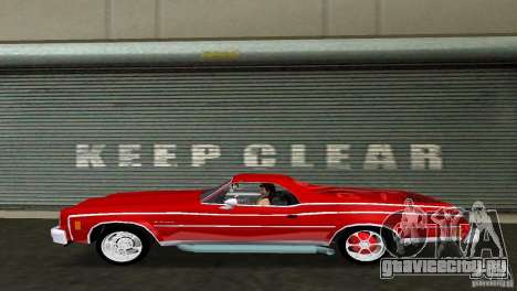 Chevrolet El Camino Idaho для GTA Vice City вид справа