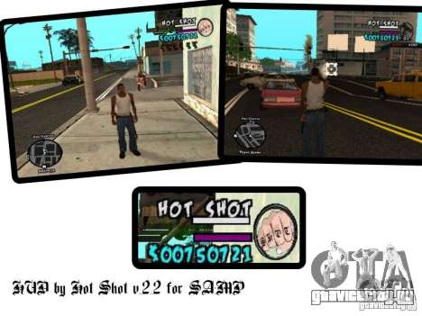 HUD by Hot Shot v.2.2 for SAMP для GTA San Andreas