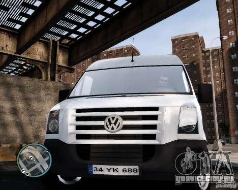 Volkswagen Crafter Turkish Schoolbus для GTA 4 вид сзади