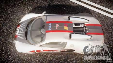 Bugatti Veyron 16.4 v1 для GTA 4 вид сверху