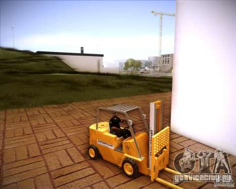 Caterpillar Torocat для GTA San Andreas вид сзади слева
