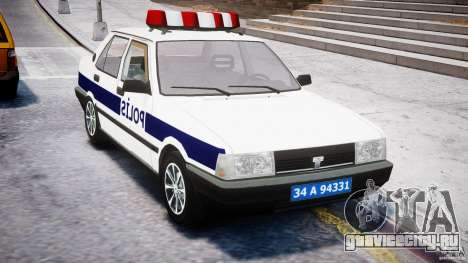 Tofas Sahin Turkish Police v1.0 для GTA 4 вид справа