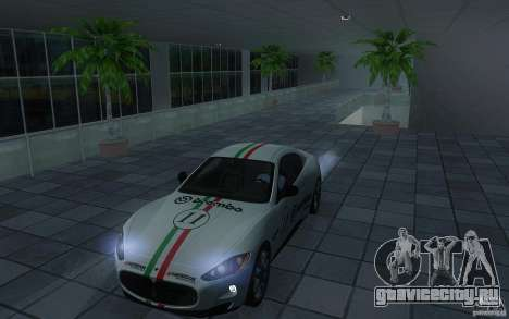 Maserati Gran Turismo S 2011 для GTA San Andreas вид сзади