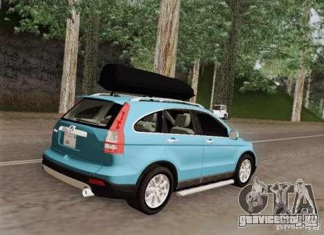 Honda CRV 2011 для GTA San Andreas вид сзади