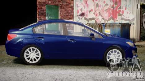 Subaru Impreza Sedan 2012 для GTA 4 вид изнутри