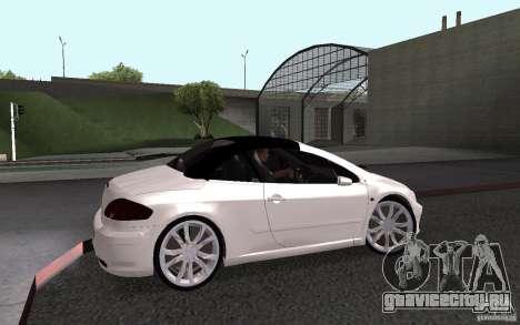 Peugeot 307CC BMS для GTA San Andreas вид сзади слева
