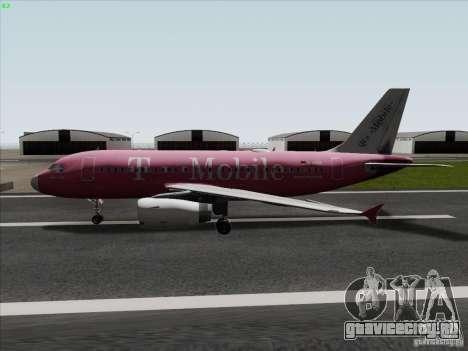 Airbus A319 Spirit of T-Mobile для GTA San Andreas вид слева