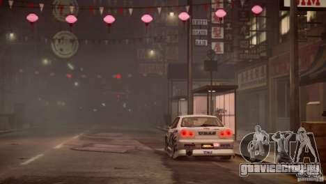 Nissan Skyline R-34 v1.0 для GTA 4 вид сверху