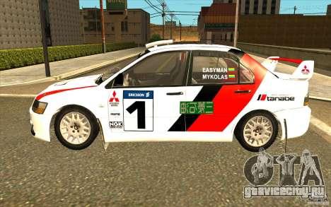 Mitsubishi Lancer Evo IX в новом виниле для GTA San Andreas