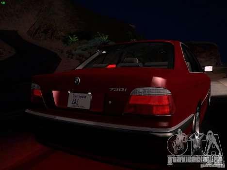BMW 730i e38 1997 для GTA San Andreas вид сверху