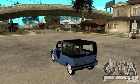 Citroen Mehari для GTA San Andreas вид сзади слева