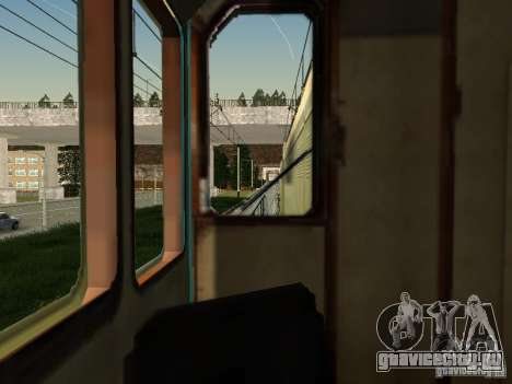ТЭМ2УМ-463 для GTA San Andreas вид изнутри