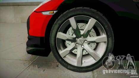 Nissan GT-R  AMS Alpha 12 для GTA San Andreas вид сзади