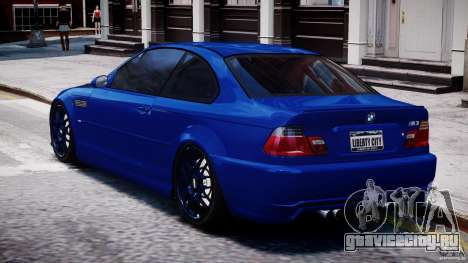 BMW M3 E46 Tuning 2001 для GTA 4 вид сзади слева