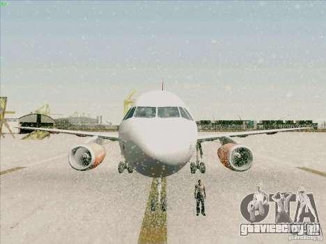 Airbus A319 Easyjet для GTA San Andreas вид сверху