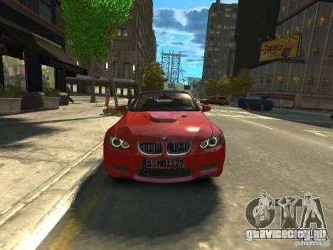 BMW M3 E92 для GTA 4 вид справа