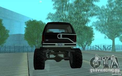 Ford Bronco Monster Truck 1985 для GTA San Andreas вид справа