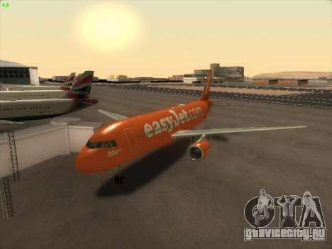 Airbus A320-214 EasyJet 200th Plane для GTA San Andreas вид сзади слева