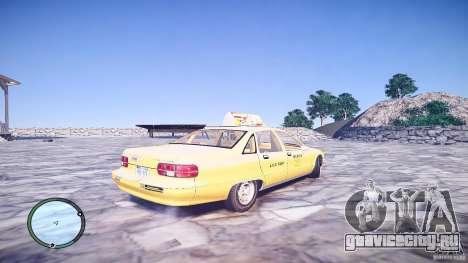 Chevrolet Caprice Taxi для GTA 4 вид сзади слева