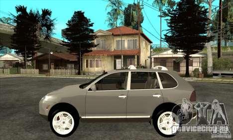 Porsche Cayenne Turbo для GTA San Andreas вид слева