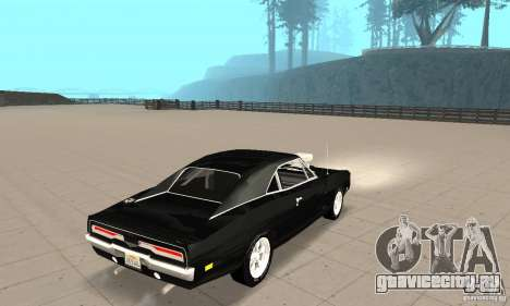 Dodge Charger RT 1970 The Fast & The Furious для GTA San Andreas вид сзади слева