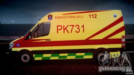 Mercedes-Benz Sprinter PK731 Ambulance [ELS] для GTA 4 двигатель
