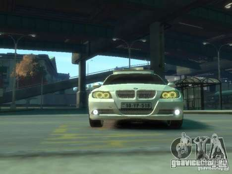 BMW 320i Police для GTA 4 вид изнутри