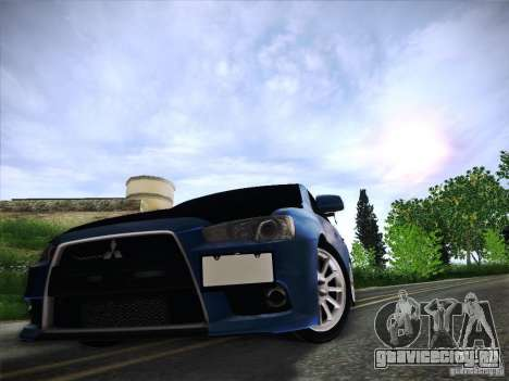 Mitsubishi Lancer Evolution Drift Edition для GTA San Andreas вид снизу