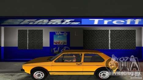 Volkswagen Golf Mk1 GTI для GTA Vice City вид сзади