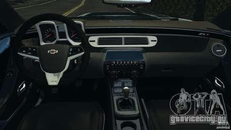 Chevrolet Camaro ZL1 2012 v1.2 для GTA 4 вид сзади