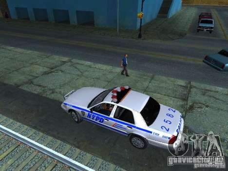 Ford Crown Victoria 2009 New York Police для GTA San Andreas вид изнутри