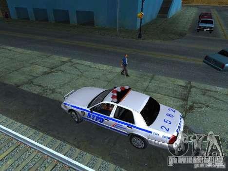 Ford Crown Victoria 2009 New York Police для GTA San Andreas вид изнутри