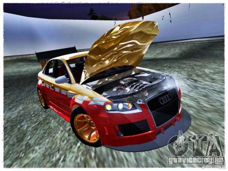 Audi RS4 Calibri-Ace для GTA San Andreas вид справа