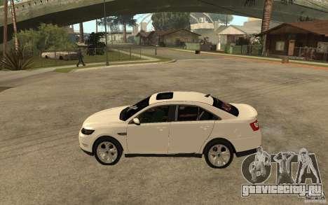 Ford Taurus 2010 для GTA San Andreas вид слева