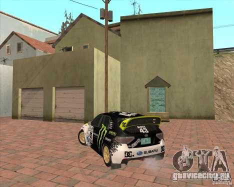Subaru Impreza Ken Block для GTA San Andreas вид сзади слева