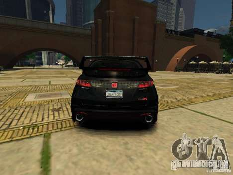 Honda Civic Type R Mugen для GTA 4 вид сзади слева