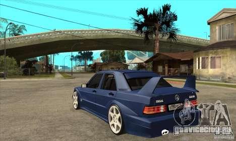 Mercedes-Benz w201 190 2.5-16 Evolution II для GTA San Andreas вид сзади слева