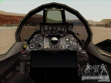 F-14 Tomcat Warwolf для GTA San Andreas вид изнутри