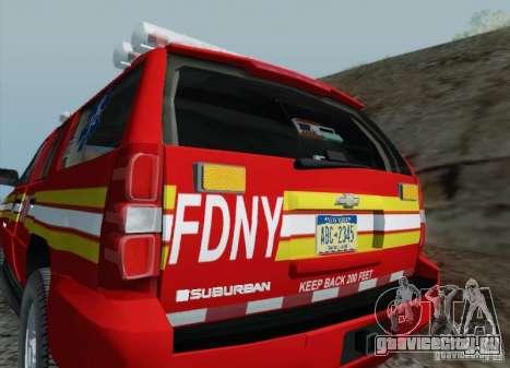 Chevrolet Suburban EMS Supervisor 862 для GTA San Andreas вид сверху
