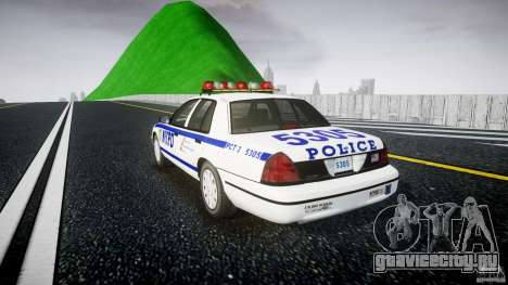 Ford Crown Victoria Police Department 2008 NYPD для GTA 4 вид изнутри