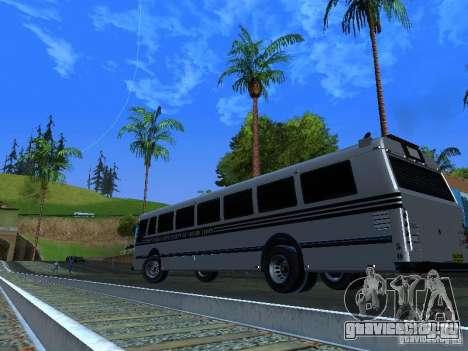 Prison Bus для GTA San Andreas вид изнутри