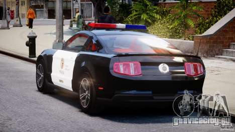 Ford Mustang V6 2010 Police v1.0 для GTA 4 вид сзади слева