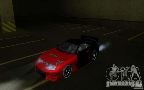 Toyota Supra Chargespeed для GTA San Andreas вид сзади