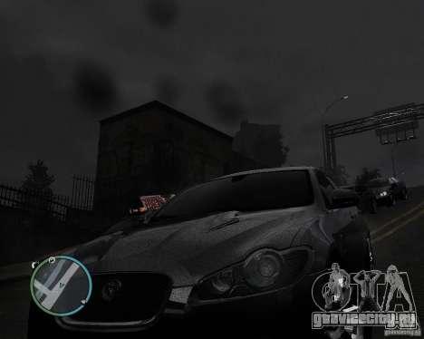 Jaguar XF-R для GTA 4 вид сзади слева