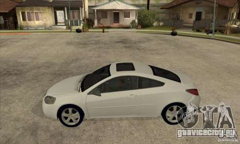 Pontiac G6 Stock Version для GTA San Andreas вид слева