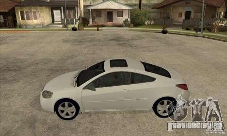 Pontiac G6 Stock Version для GTA San Andreas вид слева