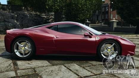 Ferrari 458 Italia 2010 v2.0 для GTA 4 вид слева